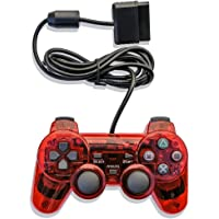 DOODEEN Wired Game Pad Controller Joypad Gamepad Console Joysticks for Ps2 Console (Red)