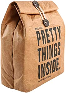 XIAOSI Reusable Brown Home Kitchen Food Storage Insulated Thermal Picnic Container Lunch Bag Paper Bag Snack Box(Brown)