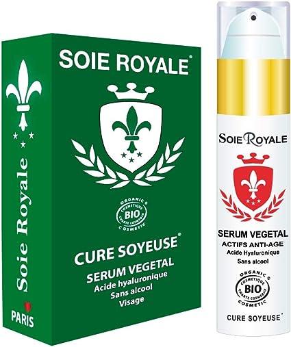 Serum Acido Hialuronico Orgánico 50 ml Regenerador celular antiedad antiarrugas hidratante, proteínas de seda, para piel, cuello y escote de Soie ...