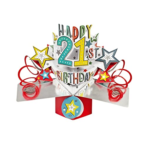 Second Nature Pop Ups 21St Birthday Card