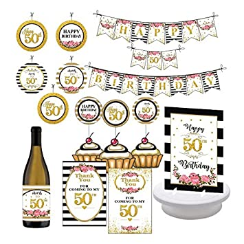 50th Birthday Party Decorations Supplies Celebrate 50 Fifty And Fabulous