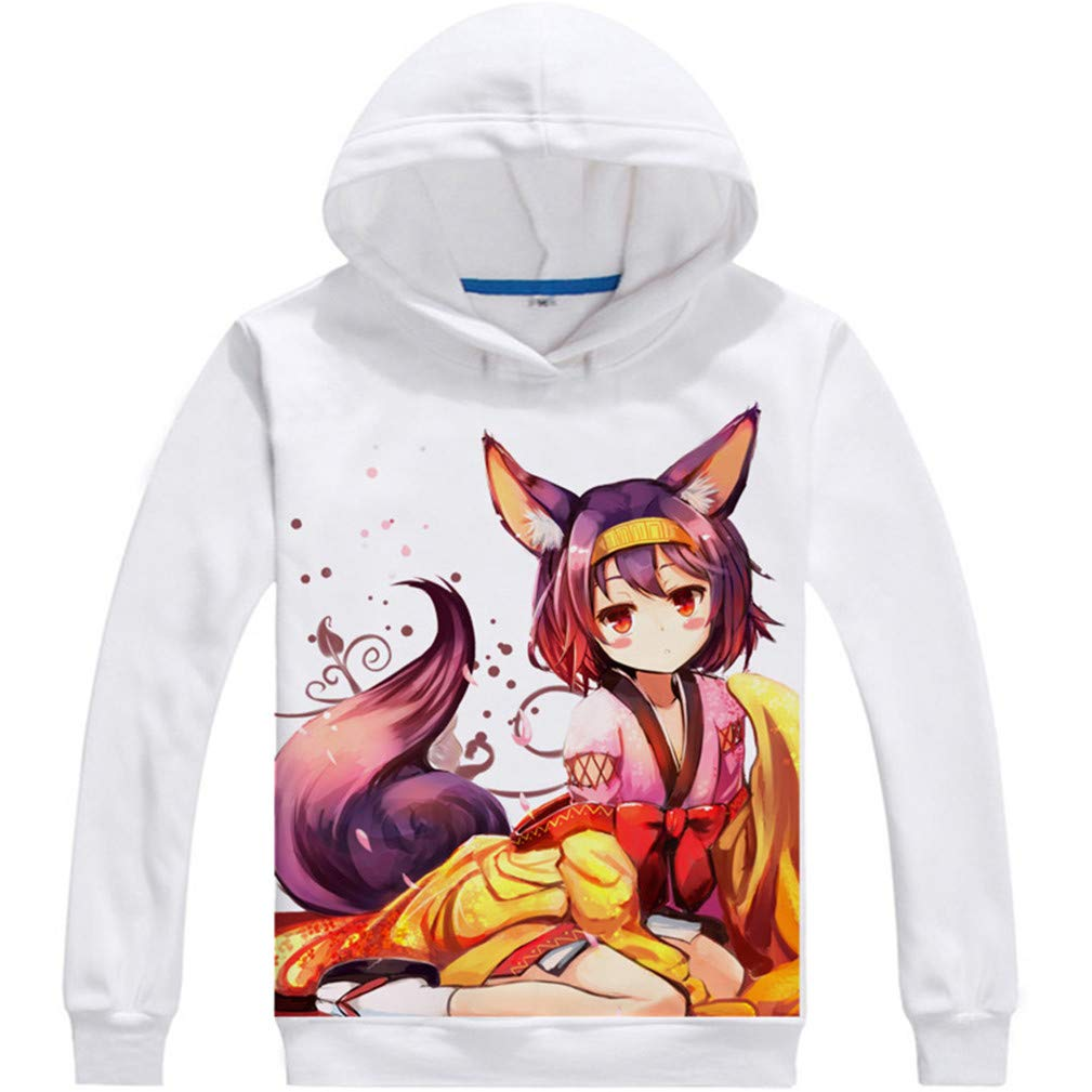 Cosstars No Game No Life Anime Hoodie Sweat /à Capuche Adulte Cosplay Pullover Sweatshirt Manteau Tops