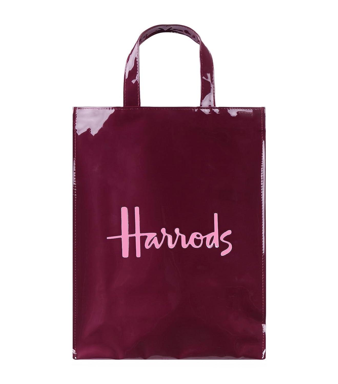 (ハロッズ) Harrods 正規品 PVC エンジ,トートバック Sサイズ,Mサイズ Small Medium Logo Shopper Bag 裏地付 卒業 入学 B07588XVCL  Mサイズ Mサイズ