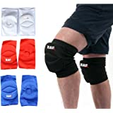 RAD One Pair PolyCotton Nonslip Elastic Fiber Knee Pads Protector Sports Volleyball Football Gym