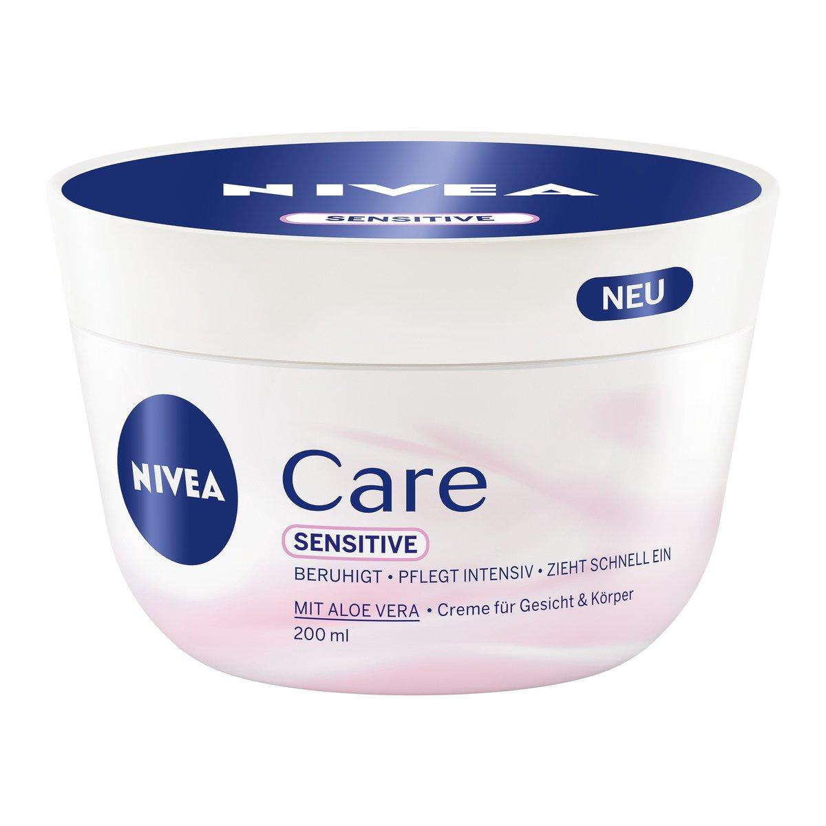 Nivea Care Sensitive Creme für Körper und Gesicht, 3er Pack (3 x 200 ml) 80197