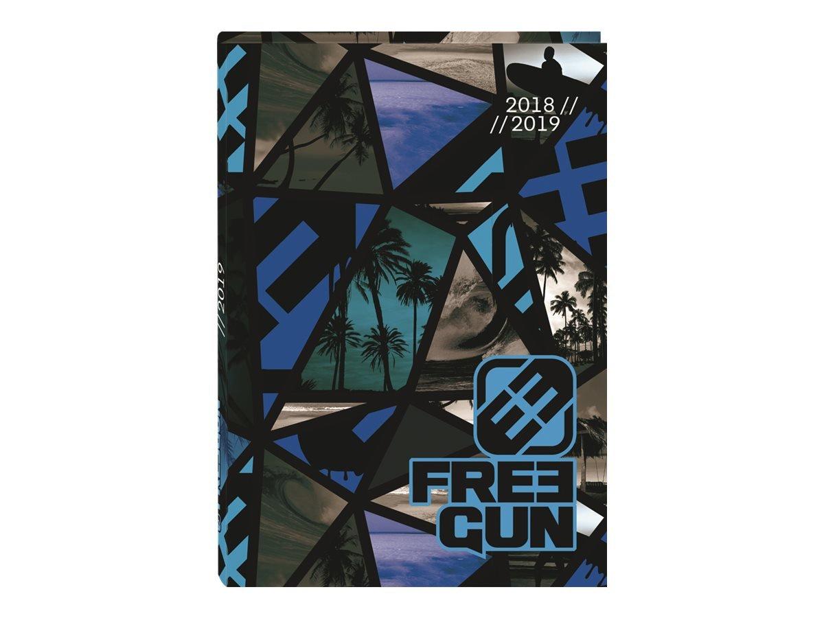 OBERTHUR - 1 Agenda Journalier FREEGUN - Sept 2018 à Sept 2019-12 x 17 cm 61579