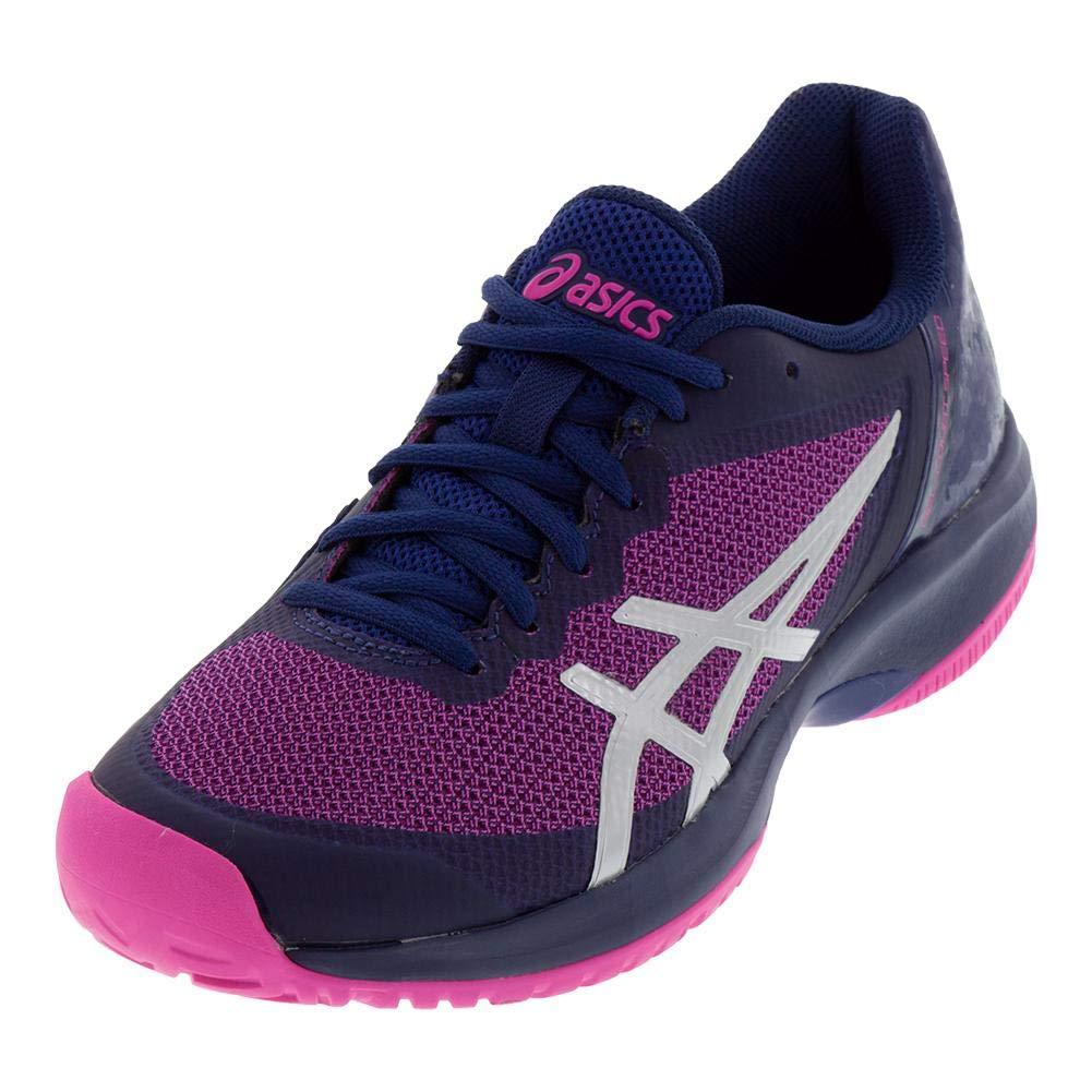 ASICS Women's Gel-Court Speed Blue Print/Pink Glo 10.5 B US