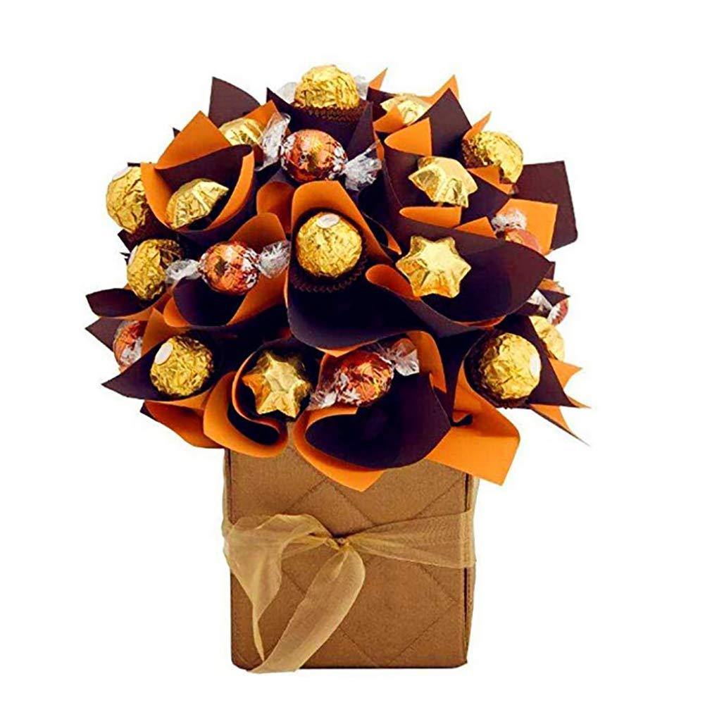 Switty 100/pcs carr/é Bonbons Chocolat Lolly Papier caissettes en Feuille daluminium Dor/é