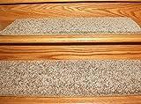 Beige carpet Stair Treads (9'' x 27'' (Set of 13))