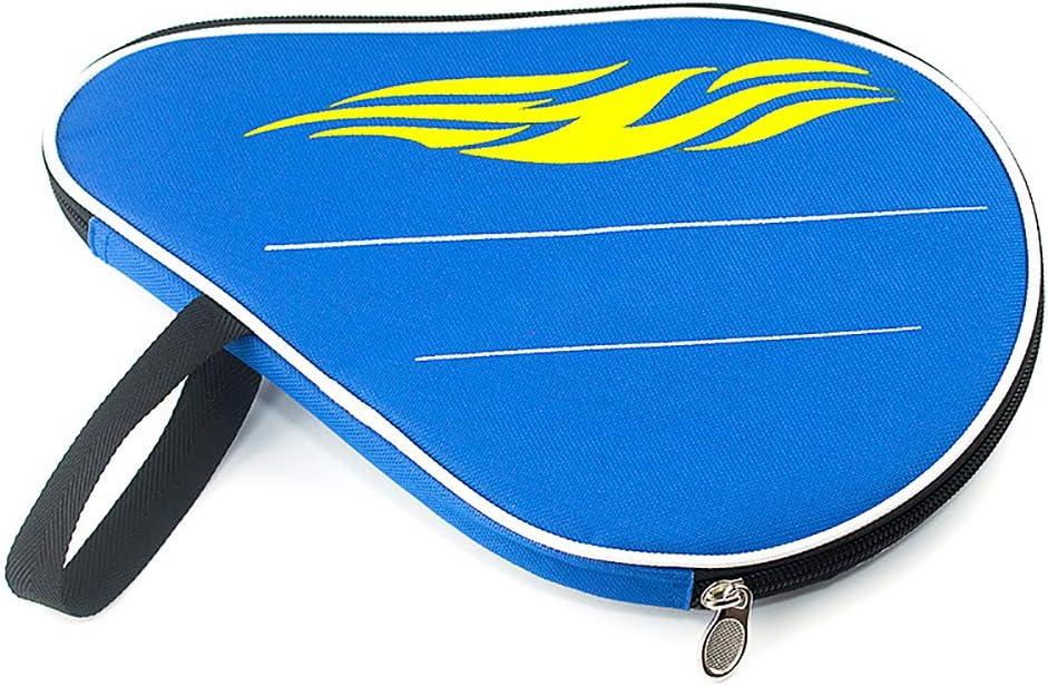 Funda para raqueta de tenis de mesa, bolsa de transporte con bolsillo exterior con cremallera, color azul: Amazon.es: Hogar