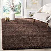 Safavieh Milan Shag Collection SG180-2525 Brown Area Rug (4 x 6)