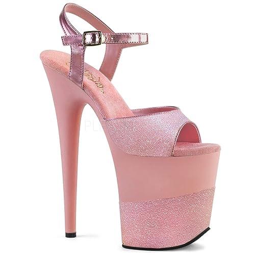 81a29e2a600 Pleaser Women's Flamingo-809-2G Ankle-Strap Sandal