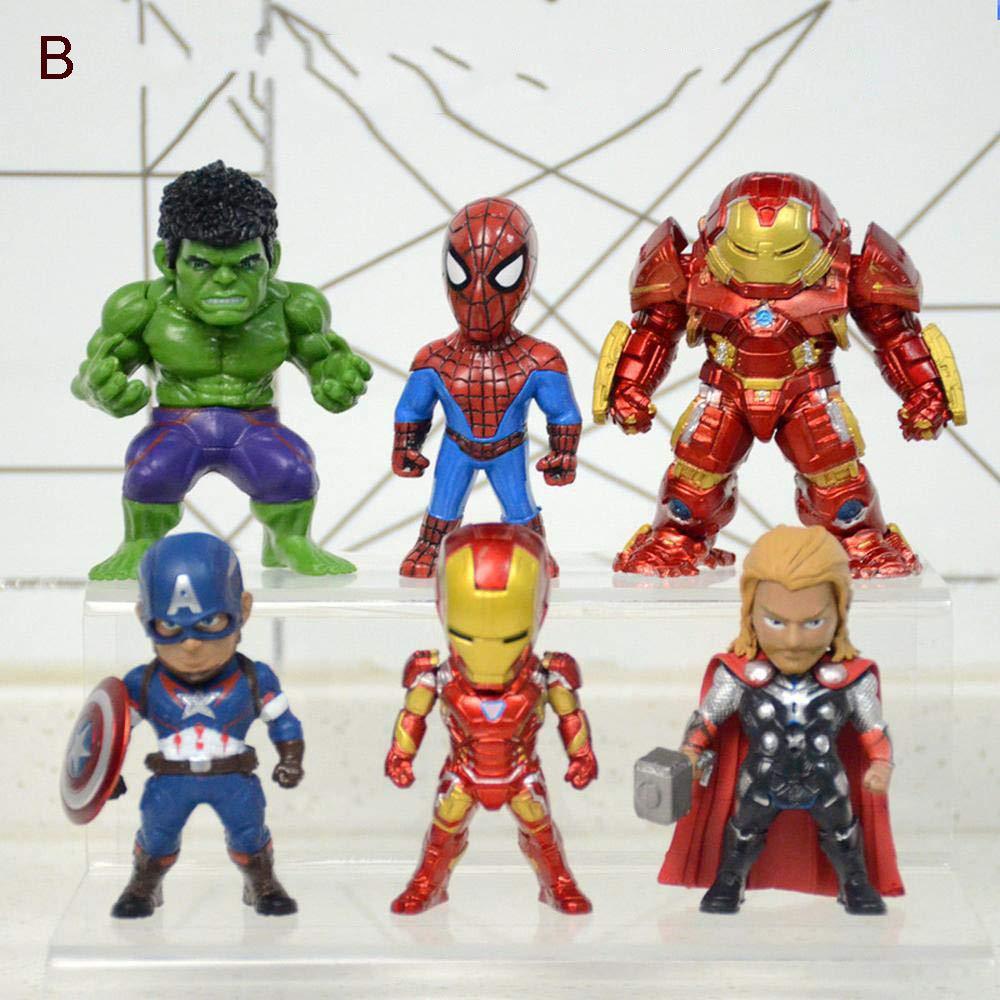 6-b scatolaed Avengers Iron uomo Anime modello Giocattoli Auto Decorazioni Regali FX cifras 6-B-scatolaed