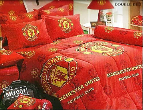 Amazon Com Manchester United Football Club Bedding In Bag Set Twin Size Mu001 1 Four Season Comforter With 3 Pieces Of Bed Fitted Sheet Set Home Kitchen