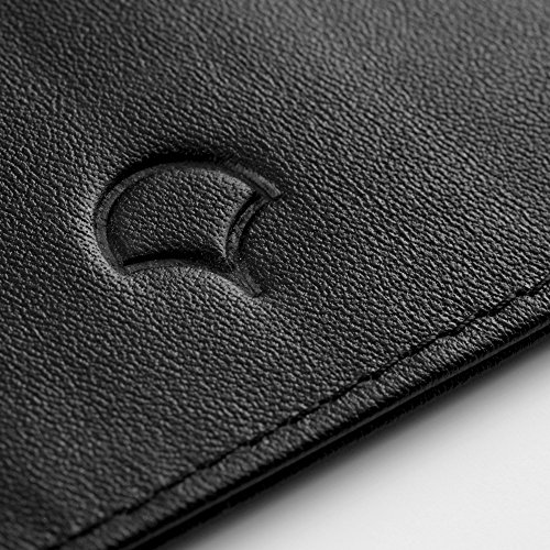 Leather Genuine Design Leather RFID 5 Giftbox Black Slim 02 amp; Pockets Black Holder Blocking Credit Card Wallet pFBwaqHp