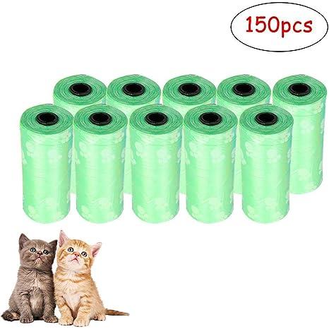 Titcch Bolsas de residuos para Perros, 10 rollos/150 Bolsas ...