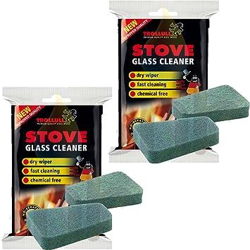 2 esponjas Trollull para limpiar el cristal de las estufas.: Amazon.es: Hogar