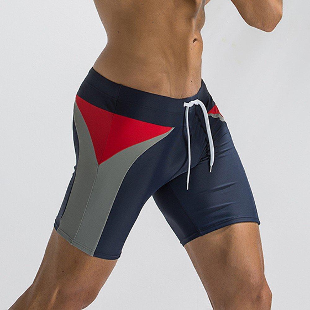 Mens Breathable Swim Trunks Pants Swimwear Shorts Slim Wear Bikini Swimsuit SANNYSIS RWTWWT-WYT1205638B Mens Swim Trunk