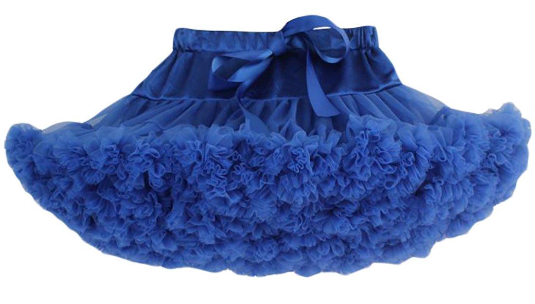 Pandapang Womens Elegant Elastic High Waist Lace Ombre Swing Mini Skirts Jewelry Blue M