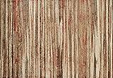 Cheap Super Area Rugs Canyon Brown Striped Modern Alba Carpet, 5X7