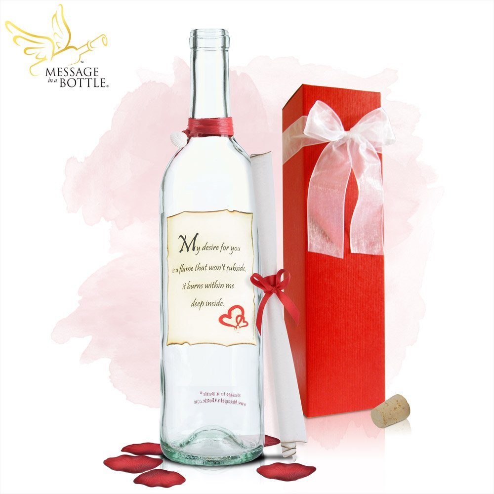 Message In A Bottle ® ''DESIRE EVERYDAY'' Personalized Gift