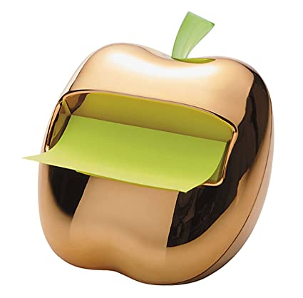 Post-It Gold Apple Pop-Up Note Dispenser for 3 x 3-Inch