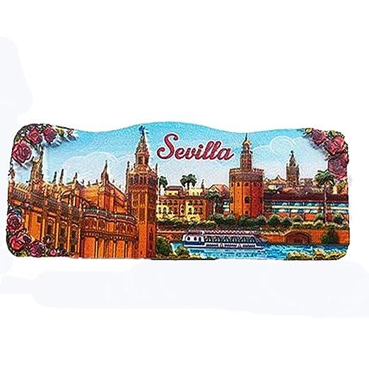 MUYU Magnet Sevilla España 3D imán de Nevera de Viaje Souvenir ...