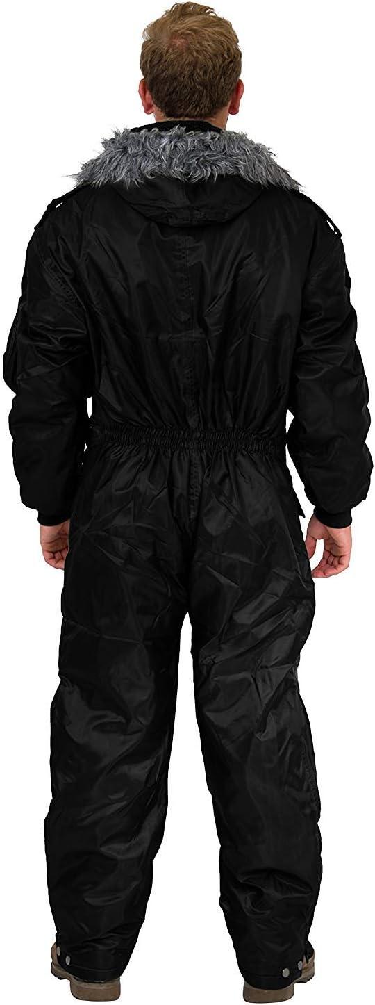 Hagor Negro Ropa de Invierno Nieve Traje de esqu/í Traje de Mono de esqu/í con Aislamiento