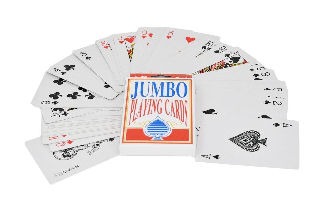 Amazon.com: Jumbo naipes | 3.5 x 5 inch con revestimiento de ...