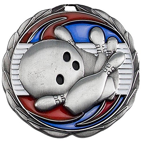 Mens Halloween Costume Contest Winners (Silver COLOR EPOXY MEDALLION BOWLING - 2.5