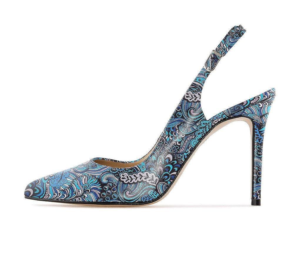 EDEFS Damen Slingback Pumps,High Heel Übergröße Übergröße Übergröße Damenschuhe,Schuhe mit Hohen Absätzen c9eb17