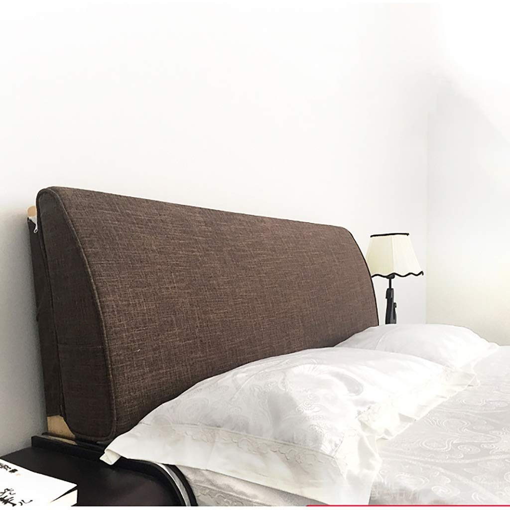 C 200cm Large Soft Upholstered Headboard Cushion Wall Pillow Linen Fabric Lumbar Pad Bed Backrest Breathable Removable Washable (color   E, Size   180CM)