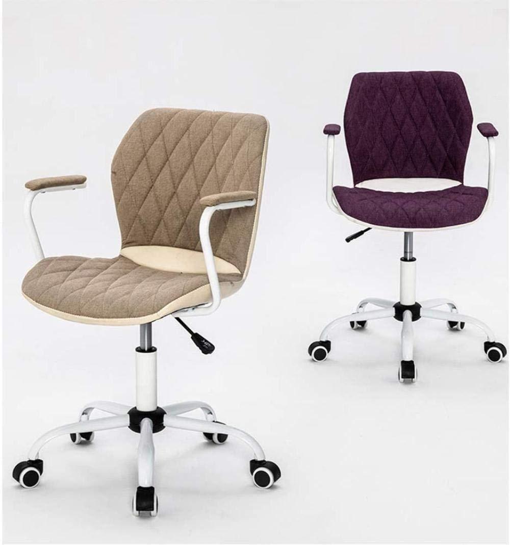 Spelstolar, kontorsfåtöljer, datorstol, kontorsstol, E-sport spelstol, svängbar stol, ergonomisk vildare, vadderad fotstöd knästol (färg: Grå) Lila
