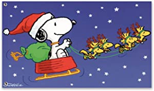 WOMFUI Snoopy in The Christmas Car Garden Banner Perfect Decoration for Outdoor Yard Porch