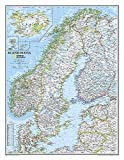 National Geographic: Scandinavia Classic Wall Map (23.5 x 30.25 inches) (National Geographic Reference Map)