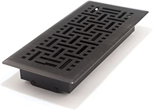 Accord AMFRRBB410 Floor Register with Wicker Design, 4-Inch x 10-Inch(Duct Opening Measurements), Oil Rubbed Bronze