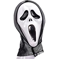Metermall Men Women's Masquerade Party/Halloween Skeleton Ghost Face Cosplay Mask Masquerade Party Trick Grimaces