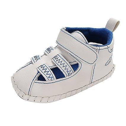 59e8010c064ea Amazon.com: Cloudro Baby Closoed Toe Sandals Prewalker Boys Girls ...