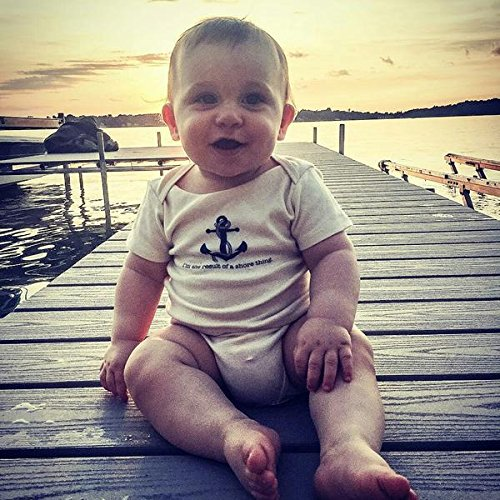 Simply Chickie Baby Rompers Im The Result of a Shore Thing 100/% Organic Cotton Baby Romper Made in America