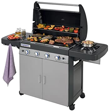 Campingaz 4 Series Classic Ls.Campingaz Gas Bbq 4 Series Classic Ls Plus 4 1 Burner Stainless Steel Gas Barbecue Large Gas Grill With Side Burner Cast Iron Grid Griddle