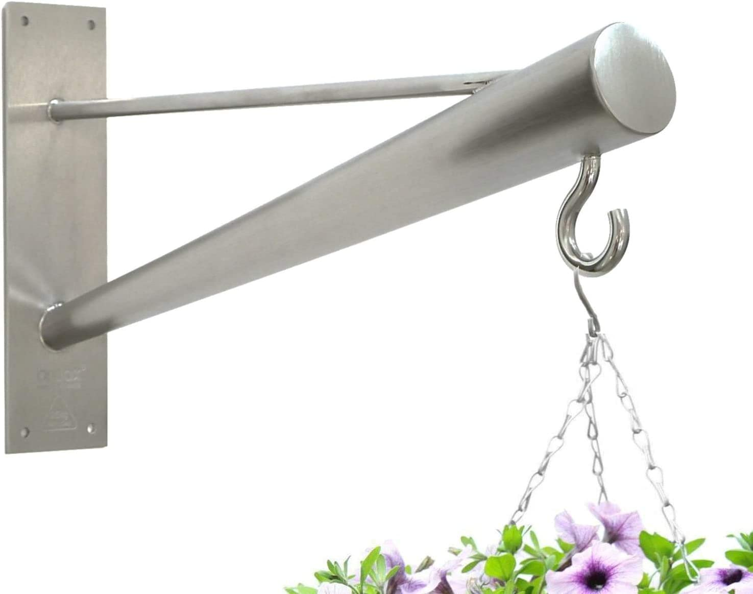 Braax Hangtec Cone Ht 4a09 Stainless Steel Wall Bracket Hook Hanger For Hanging Baskets Bird Feeders Topiary Balls Lights Lanterns Wind Chimes Or Similar Amazon Co Uk Garden Outdoors