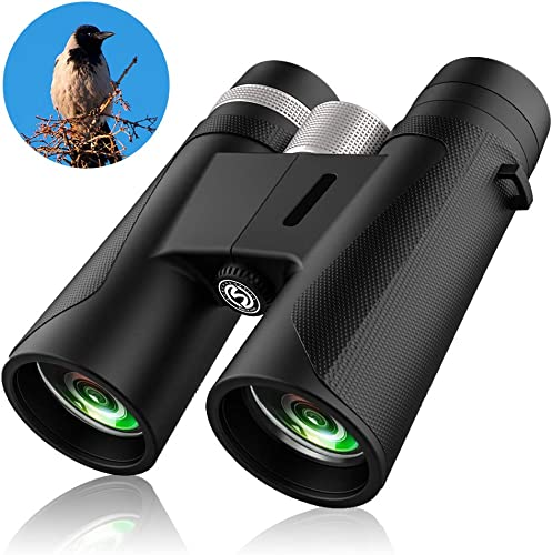 12×42 Compact Binoculars for Adults Kids, Professional Binoculars for Bird Watching, Lightweight Binoculars 1.1 lbs. Night Vision Binoculars for Hunting Travel Hiking Theater Concerts Safari