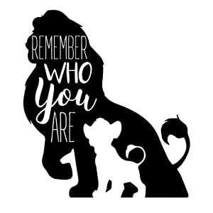 Wall Decals for Kids Room | Remember Who You Are Lion King Wall Quote | Gift for Son, Daughter, Grandchild | Vinyl Decoration for Baby Nursery, Bedroom, Classroom, Playroom | Small and Large Sizes
