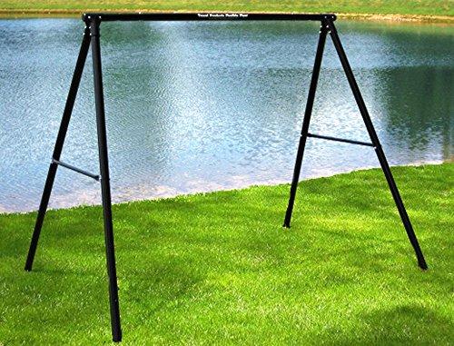Wooden Swing Frame (Flexible Flyer Lawn Swing Frame (Swing Not Included), Black)