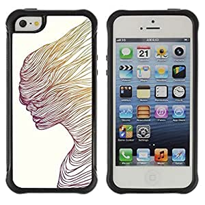 Hybrid Anti-Shock Defend Case for Apple iPhone 5c 5c Colorful Astronaut In rain hjbrhga1544