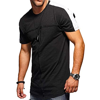 9619fae55 Amazon.com: Mens Casual Regular-Fit T Shirts,Summer Round Neck ...