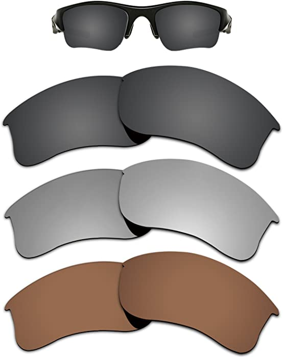 4a25e737138 Amazon.com  Kygear Replacement Lenses Different Colors for Oakley Flak  Jacket XLJ Sunglass Polarized Pack of 3  Clothing
