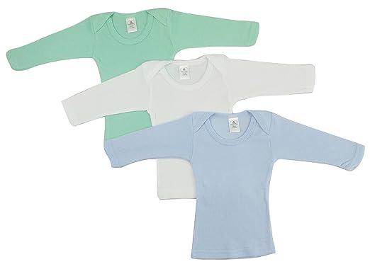 efc3f497c65c Bambini Boys Pastel Variety Long Sleeve Lap T-Shirts - Small, Blue/Aqua