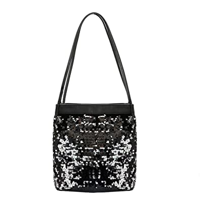 50283f147cec3 Demiawaking Womens Girls Glitter Sequins Shoulder Bag Handbag Clutch Purse  Pouch Phone Bag