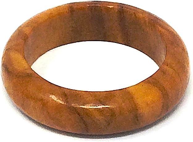 bagusto Anillo de dedo de madera de olivo - hecho a mano en España 18mm: Amazon.es: Zapatos y complementos